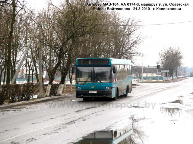 На снимке: автобус МАЗ-103.465