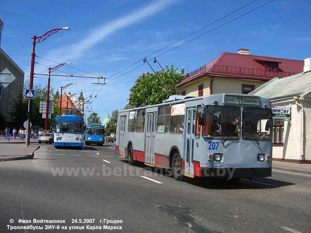 Модели троллейбусов Гродно