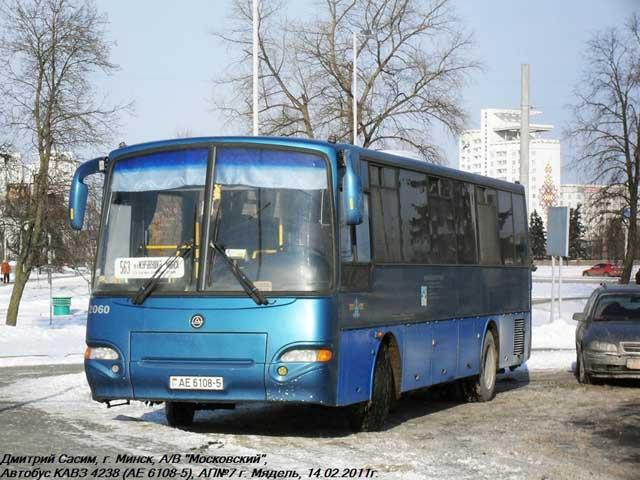 и 3 автобуса КАвЗ-4238.