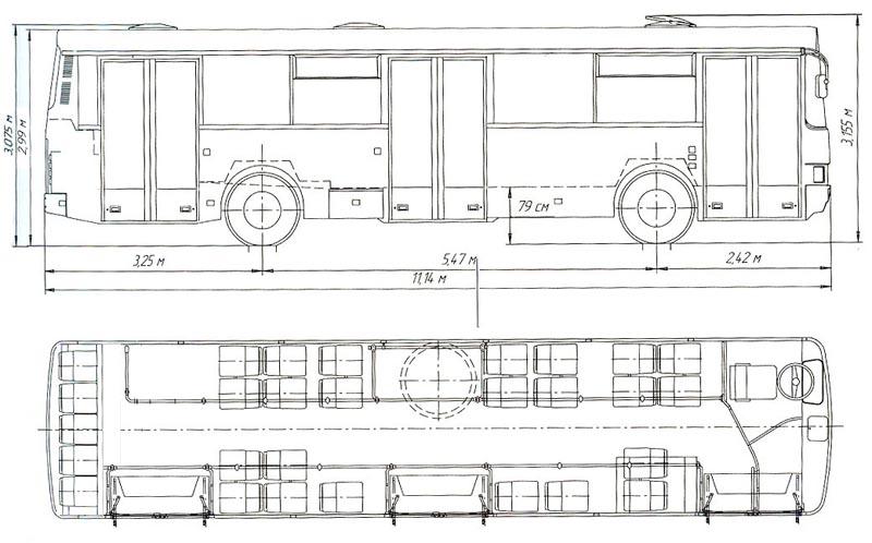 Схемы: автобус ЛАЗ-4202