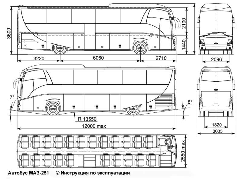 совершать на автобусе